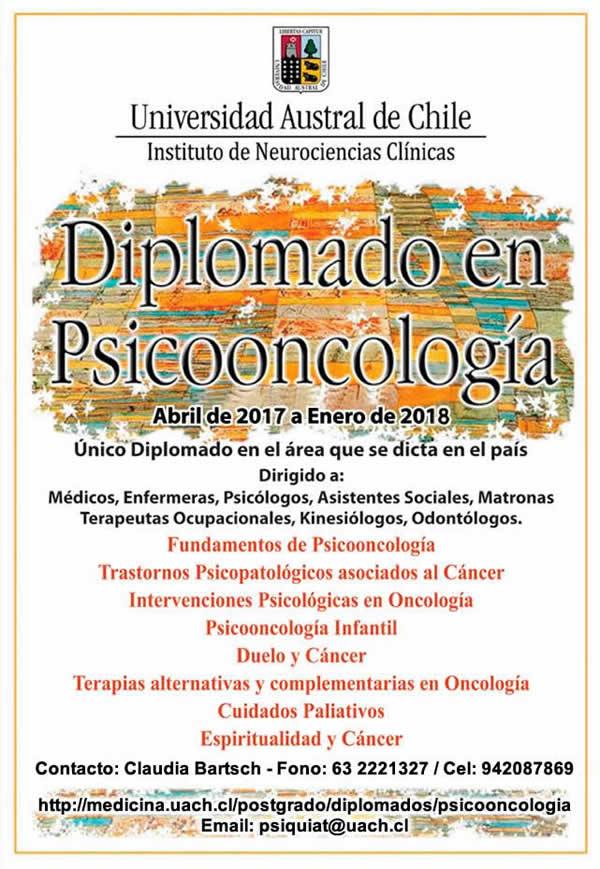 diplomado en psicooncologia uach