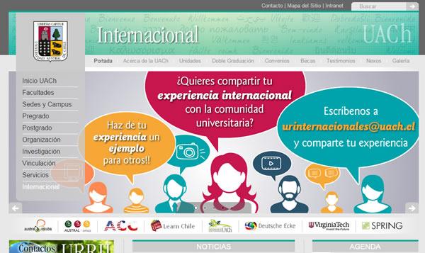 unidad de relaciones internacionales uach